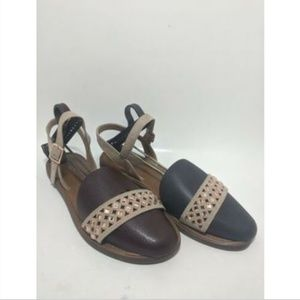 Big Buddha Leather Suede Ankle Strap Bedazzle